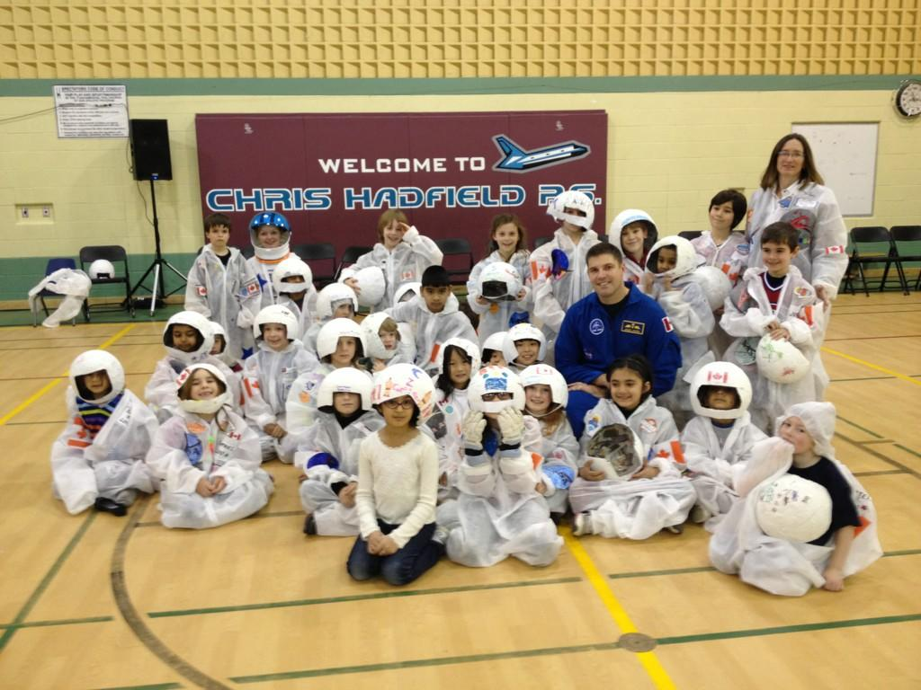 Students of Chris Hadfield Public School