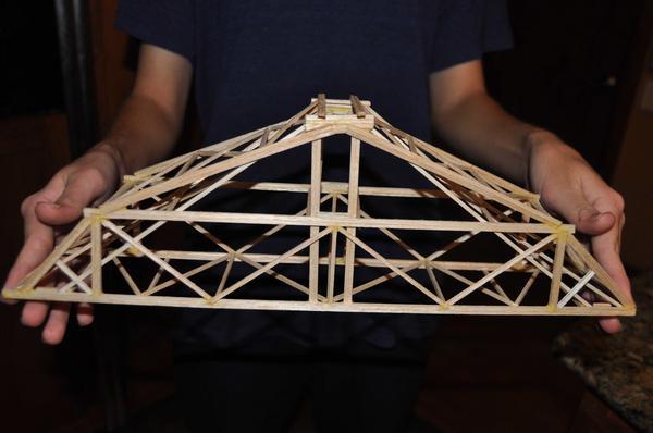 David Brin On Twitter My Son 39 S Balsa Wood Truss Bridge