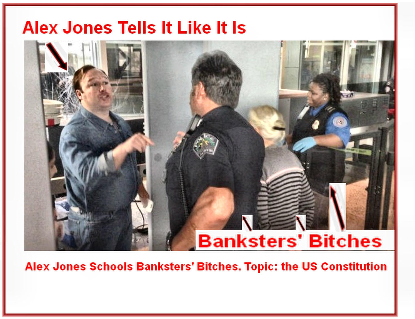 Alex Jones Schools Banksters' Bitches