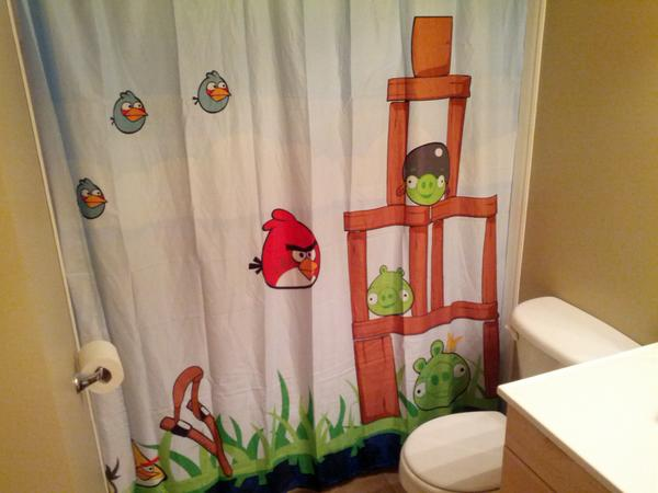 Chad House On Twitter An Angry Birds Shower Curtain Is A Sure Sign 5 Year Old Has Taken Over Interior Decorating Duties At Your Home