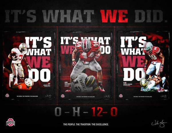 #OhioState, the only undefeated FBS team!  #GoBucks http://t.co/huVbhhKC