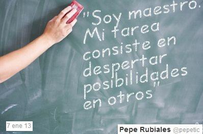 "@pepetic (docente): ""Soy maestro. Mi tarea consiste en despertar posibilidades en otros."" https://t.co/LUrWnNLK http://t.co/Cjl2joD0"