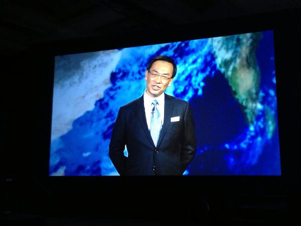 You are not as happy as Panasonic CEO Kazuhiro Tsuga this morning. #ces2013 http://pic.twitter.com/zhivWuAe