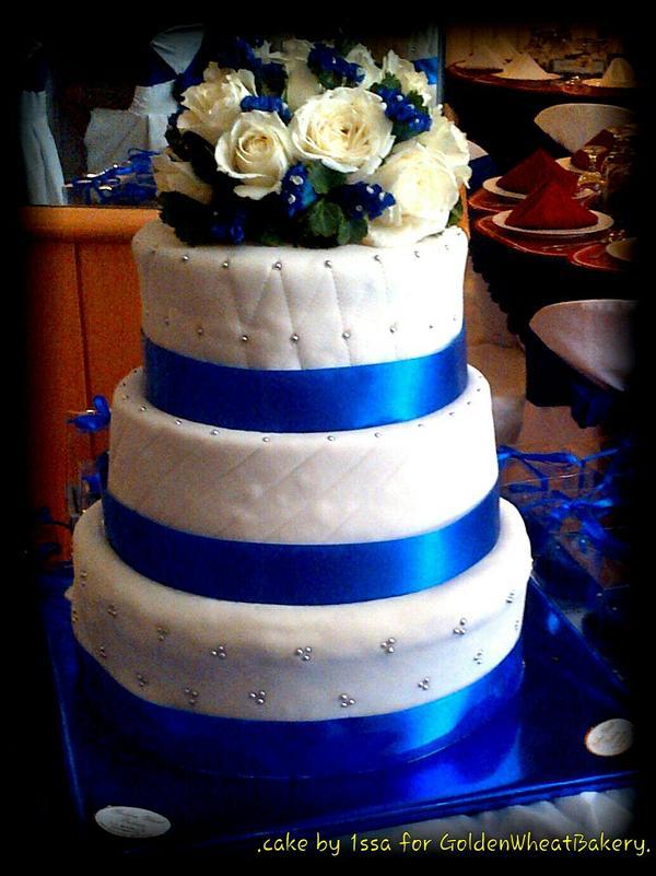 Golden Wheat Bakery On Twitter Royal Blue Themed 3 Tier Wedding