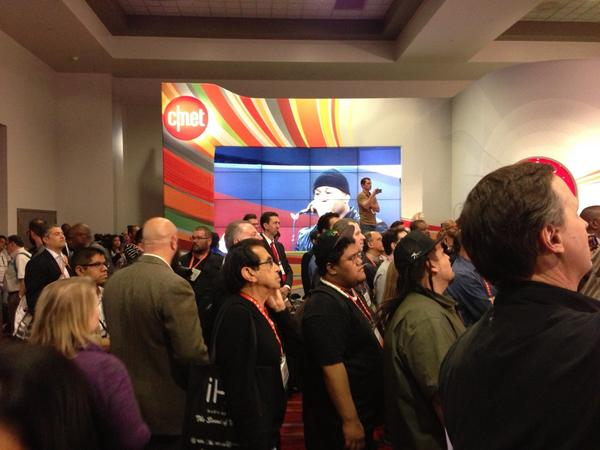 L.L. Cool J tries to get nerds to wave hands in the air like they just don't care. Turns out, they do care. #ces2013 http://t.co/FKplX6ND