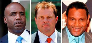 RT @ToledoNewsNow: JUST IN: Barry Bonds, Roger Clemens, Sammy Sosa denied entry to baseball's Hall of Fame. http://bit.ly/ZrDgFU http://pic.twitter.com/SLDrOQCb