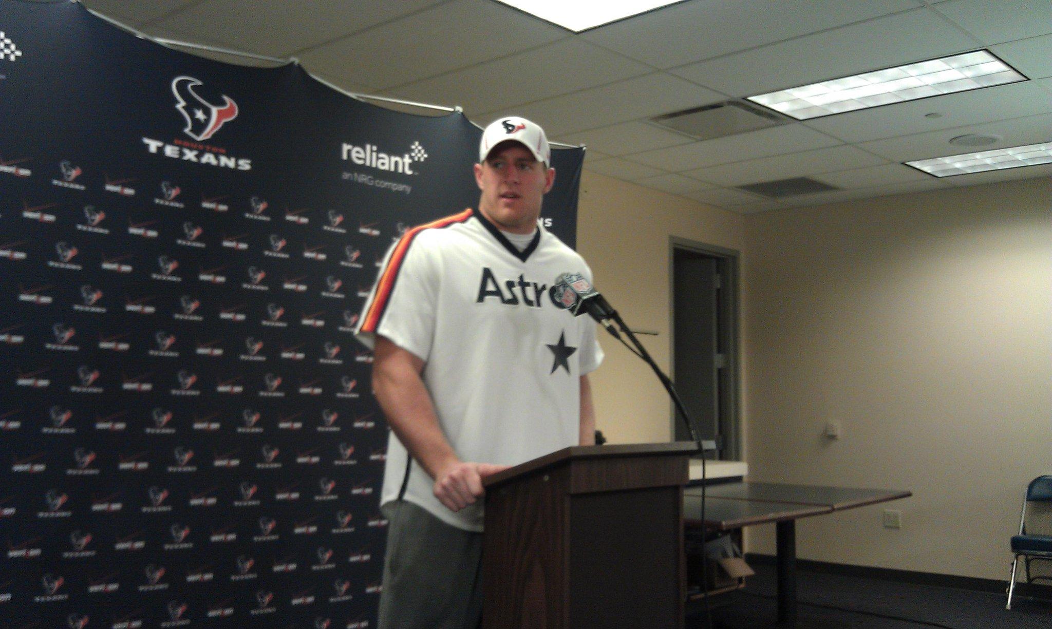 JJ Watt wears Craig Biggio jersey