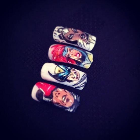Ryan Lanji On Twitter This X Men Nail Art By Honeytherapy Is