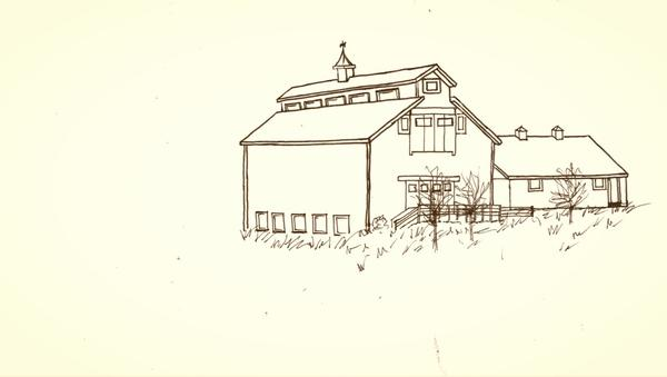 Barn Line Drawing Embedded Image Permalink