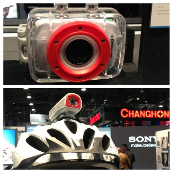 Hi-def sports video camera @poloroid only $69-199! So awesome for skiing, boarding, sports loving kids. #2013CES http://pic.twitter.com/goOzgNS1