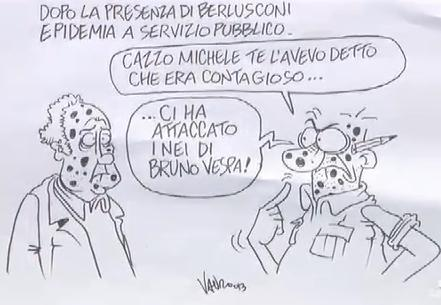 RT @fattoquotidiano: Effetto Berlusconi a #ServizioPubblico #Vauro vignetta -> http://pic.twitter.com/GPVko5Tv