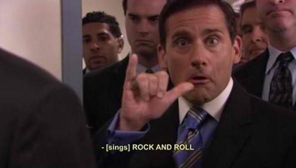 """Best of The Office on Twitter: """"Rock 'n roll!! #MichaelScott  @Da_MichaelScott #TheOffice http://t.co/bI56Z4XX"""""""