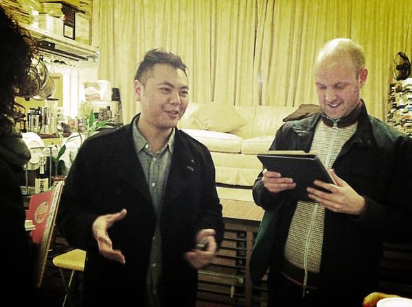 Studio of Chow Chun-fai in Fotan, #HongKong with @LTTDS #Moderations @SpringHK @WDWcentrum http://pic.twitter.com/A34WZVkB
