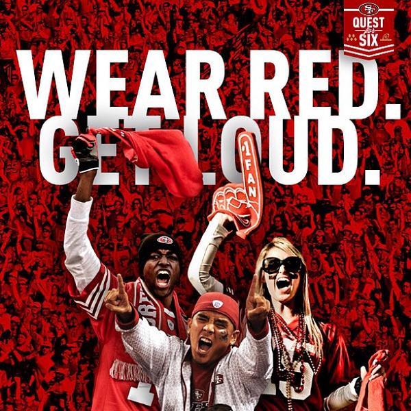 RT @0Dang: It's gameday! #49ers #BeatThePackers #QuestForSix http://pic.twitter.com/T3uZHro4