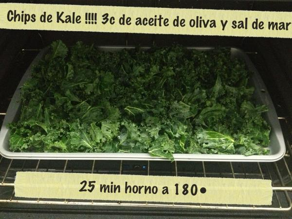 The healthycoach on twitter hoy chips de kale una for Cocinar kale al horno