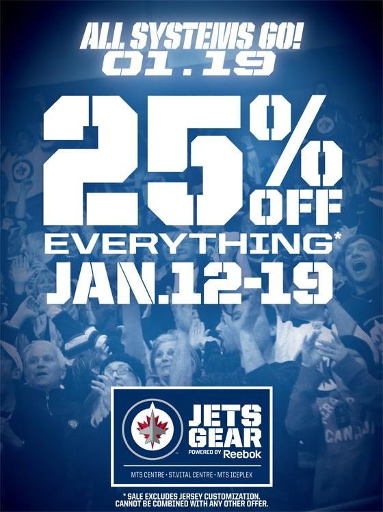 Jets 25% discount