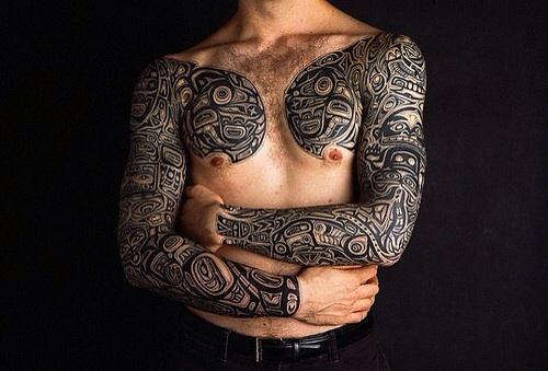 Curiosos Tatuajes On Twitter Tatuajes De Brazo Completo Un Gran