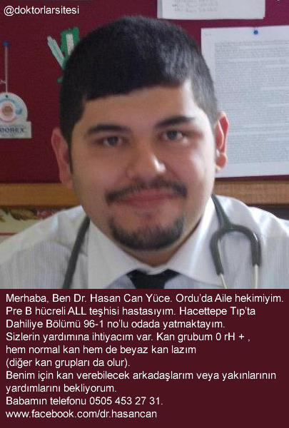 Lösemi Hastasi Doktor Arkadaşimizin Ankara Hacettepe Tfde Kana