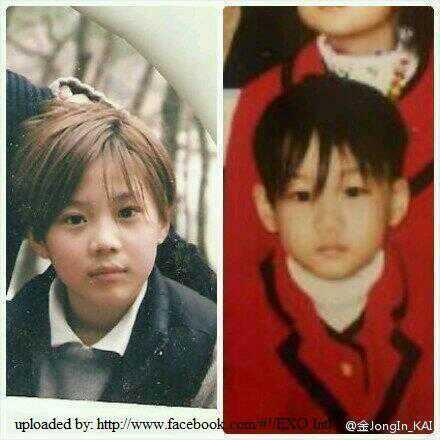 """KpopLife on Twitter: """"Baby kai (right) baby taemin (left ..."""