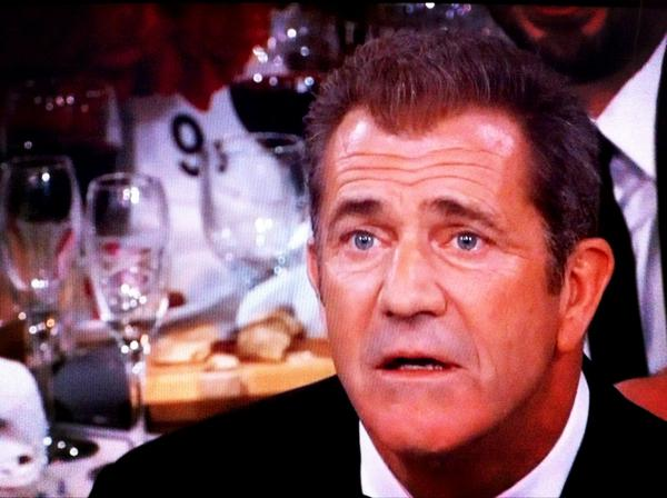 Here's that picture of Mel Gibson during Jodie Foster's speech. http://pic.twitter.com/sL8EnhHy