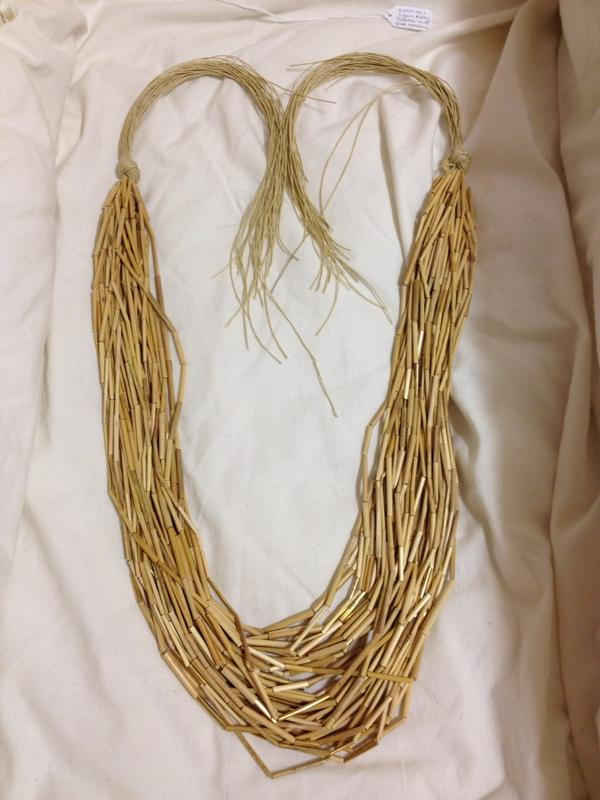 The highlight of a late-afternoon prowl around the collections: Lynn Kelly's gold and tussock necklace. http://pic.twitter.com/Wyo5FpcH