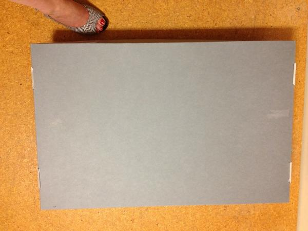 The biggest jewellery box ever (with foot for scale) made for that Lynn Kelly piece #ttrttpt http://pic.twitter.com/I9X5Cam0