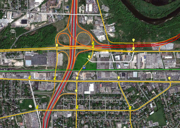 New Highway  Kitchener To Guelph Map