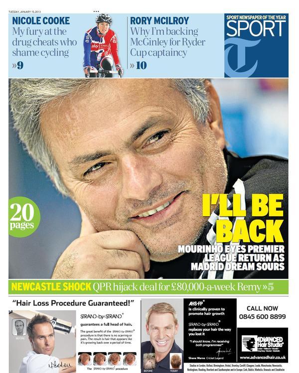 QPR snap up Remy & MVila, Mourinho wants England return & Sepp Blatter wants to be a pundit