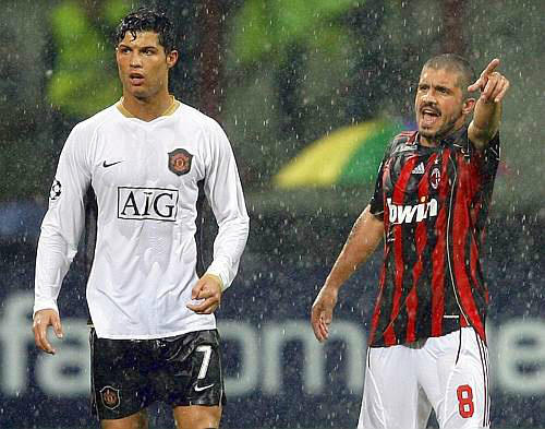 Image result for Gattuso with Cristiano Ronaldo