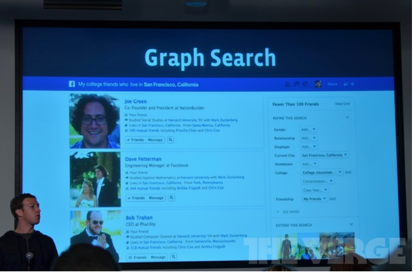 Zuckerberg says graph search is 'designed to show you the answer and not links to answers' http://tinyurl.com/aby49fy http://pic.twitter.com/HfKA2AAF