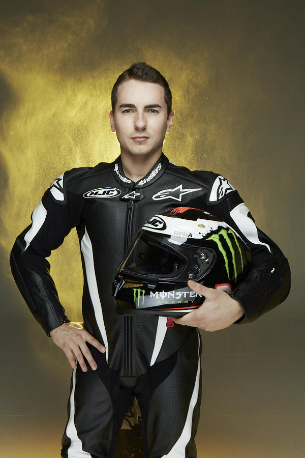 Jorge Lorenzo reveals new HJC Monster Energy lid