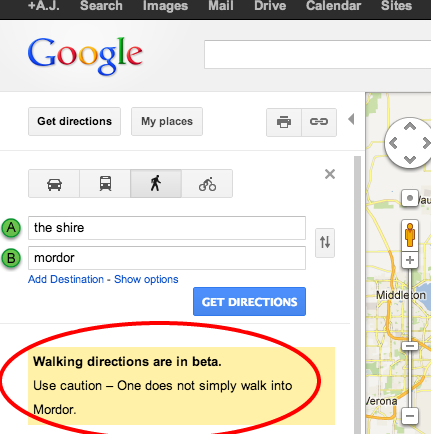 Google Lord Of The Rings Easter Egg Mordor