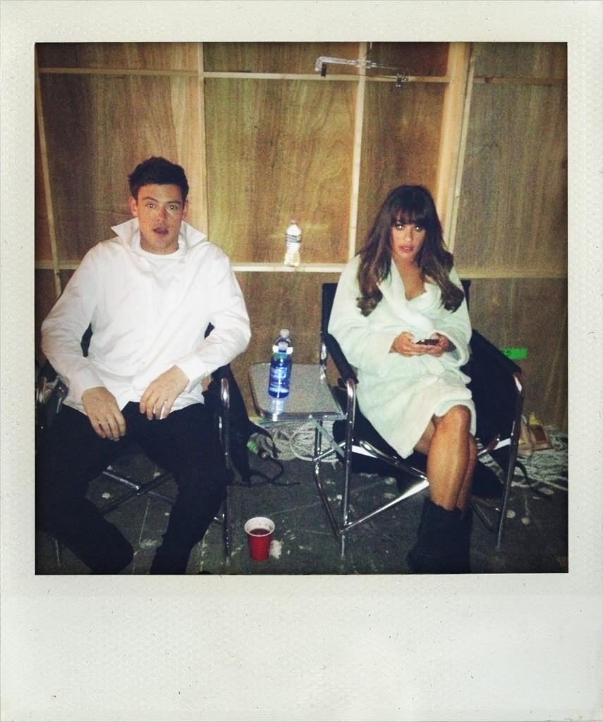 @msleamichele @corymonteith second to last scene today.  Episode 14. http://t.co/bemNiWXl