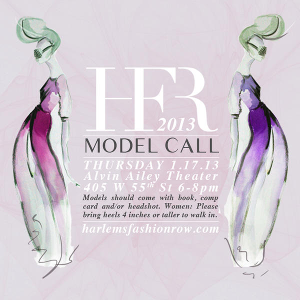 Model Casting Call!  HFR is looking for female models for our next show!  Casting call Thurs 17th, 6-8pm @ Alvin Ailey http://t.co/IvL8BX3a