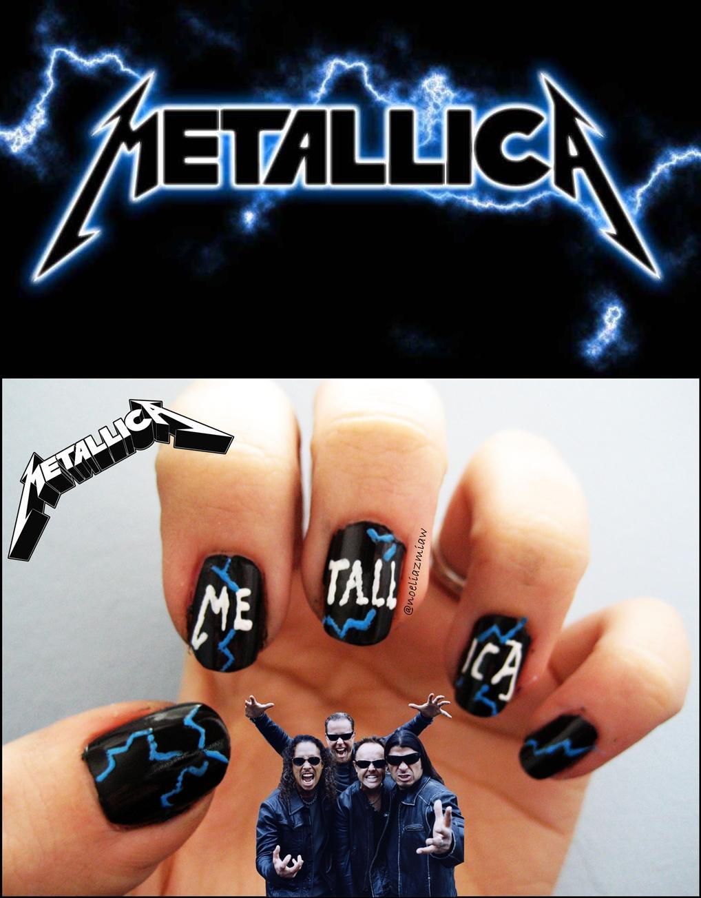Rt Noeliazmiaw Metallica Nails Nailart Uñas Art
