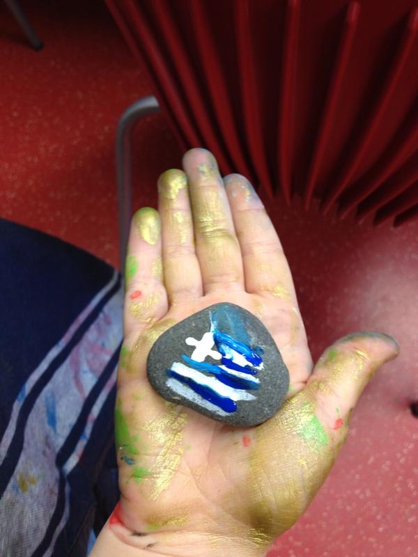 My new friend (#ttrttpt) and I also made a version of the Greek flag because we're Percy Jackson fans. http://pic.twitter.com/rlewpDAm