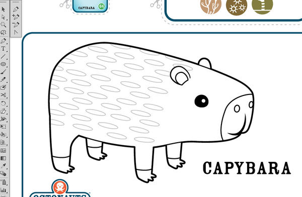 Capybara Coloring Page Www Imgkid Com The Image Kid Capybara Coloring Page