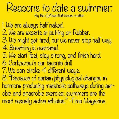 Benefits of dating a swimmer