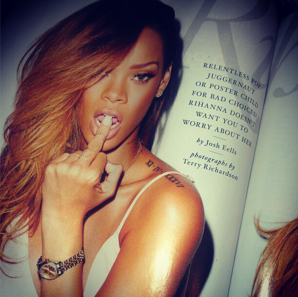 Rihanna Rolling Stone Magazine Cover Scans