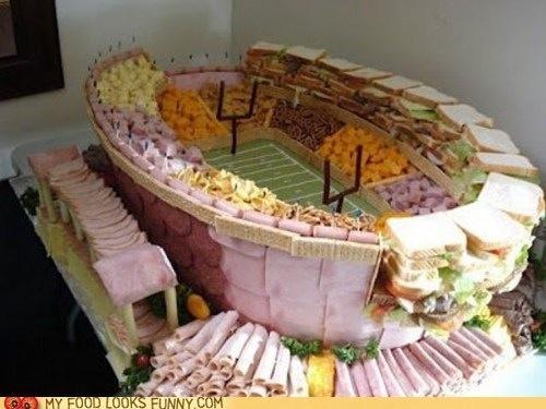 Super Bowl Food Stadium! http://pic.twitter.com/VpG630qR