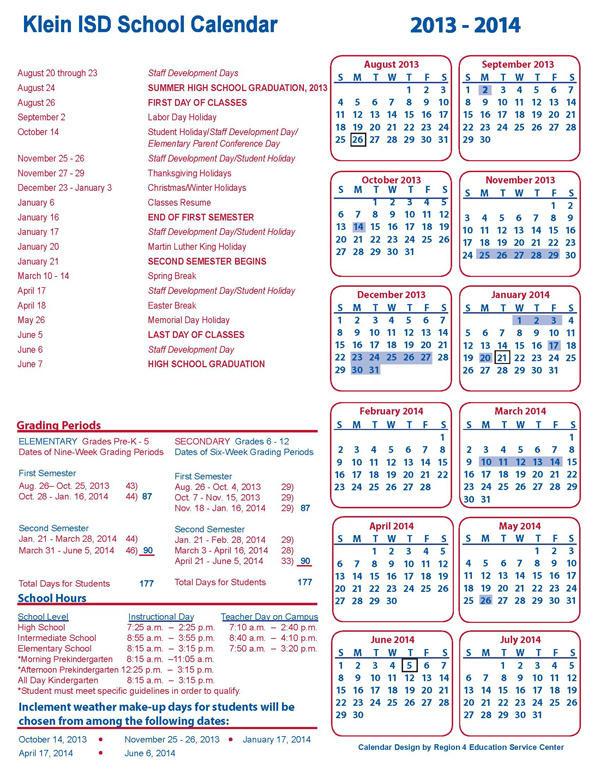 Klein Isd Calendar 2022 23.Klein Isd On Twitter The 2013 14 School Calendar Is Now Available At Http T Co Mqgprzkj Http T Co Kx4u0rdp