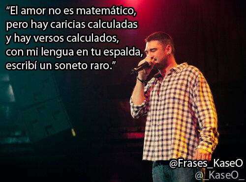 Kase O On Twitter El Amor No Es Matematico Pero Hay Caricias