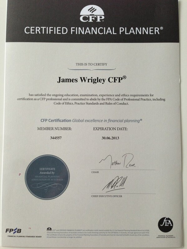 James Wrigley On Twitter Cfp Certificate Came In The Mail Today