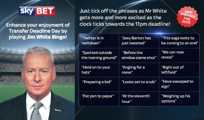 Jim White Bingo