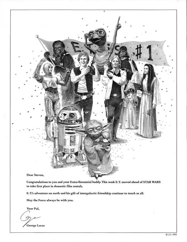 30 years ago today, Variety magazine posted an ad from George Lucas to pal Steven Speilberg. http://pic.twitter.com/sPlgUaFx