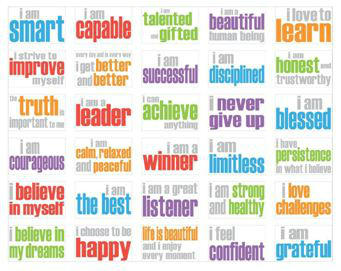 graphic about Printable Affirmations identify OMazing Little ones, LLC upon Twitter: \