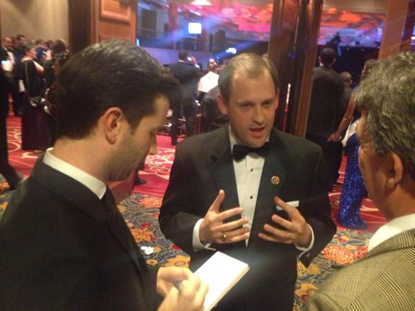 Two reps! #runningoftheballs MT @CatGatewood: Kentucky's newest Congressman speaks to @Mrdanzak at the #BluegrassBall http://pic.twitter.com/e2GMzqMx