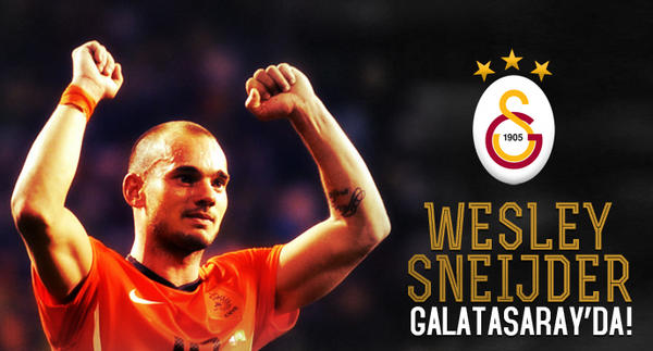 Wesley Sneijder arrives in Turkey, predictably mobbed by Galatasaray fans