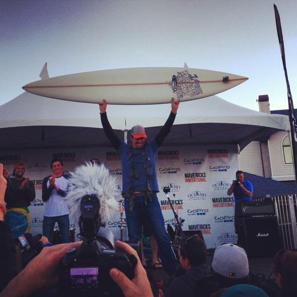 "RT @OfficialEdQuinn: ""@SURFER_Magazine: Congratulations Peter Mel, winner of the 2013 Mavericks Invitational. #mavericksinv http://pic.twitter.com/dgPLXWyh"" THAT'S MY BOY!!"