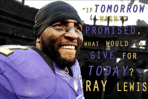 """Quotes About Ray Lewis Game: SportsCenter On Twitter: """"Ray Lewis' """"last Ride"""" Takes"""
